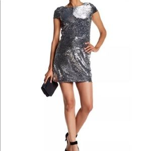 NWT Vince Camuto Silver Sequin Dress